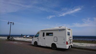 宗谷岬のキャンピングカー