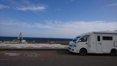 宗谷岬とキャンピングカー