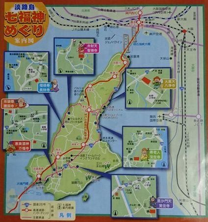 七福神めぐりの地図