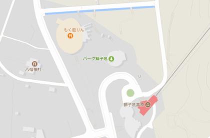 獅子吼高原ゴンドラ乗り場付近の地図