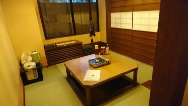 富士眺望の湯ゆらりの食事処の個室