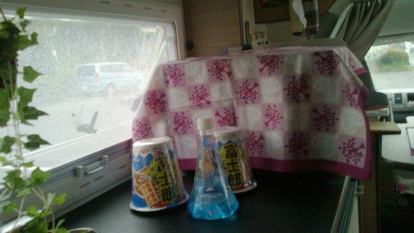 富士山麓の天然水とカップラーメン富士郎