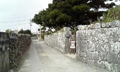 真壁ちなー入口の門