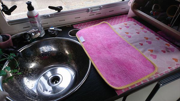 キッチンの吸水マット