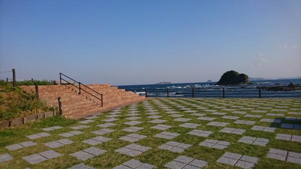 軍艦島 水仙の里北川展望台