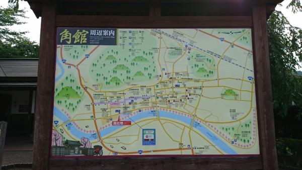 角館武家屋敷周辺地図