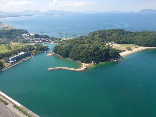 瀬戸大橋タワーから見る絶景