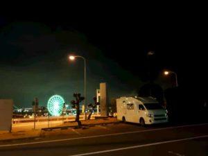 淡路SA オアシス 夜の風景