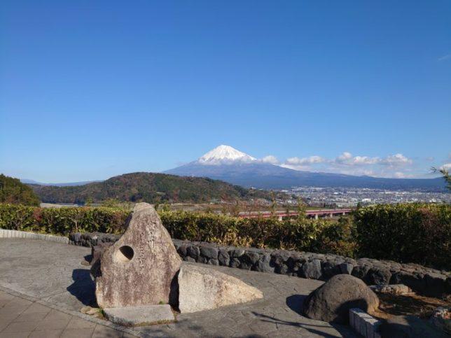 富士川サービスエリアの富士山