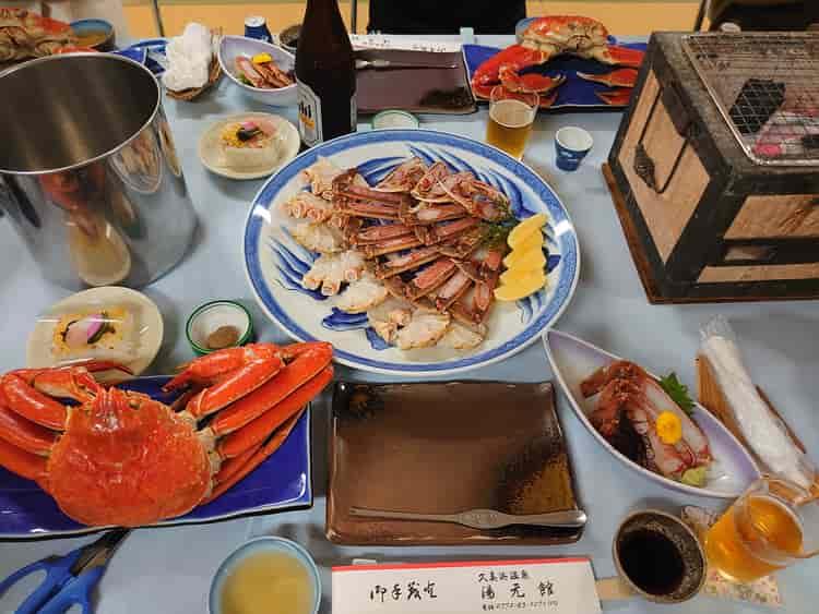 久美浜温泉 湯元館 カニ料理